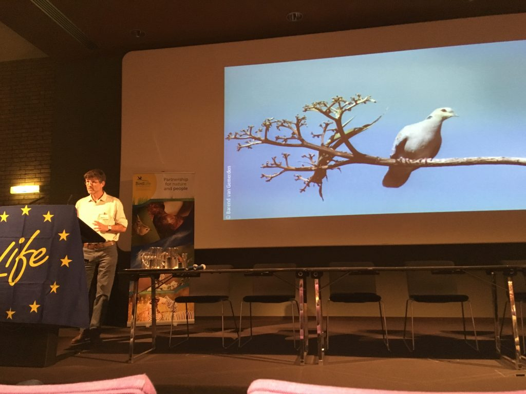Ian Fisher from the RSPB presents the Turtle Dove Action Plan