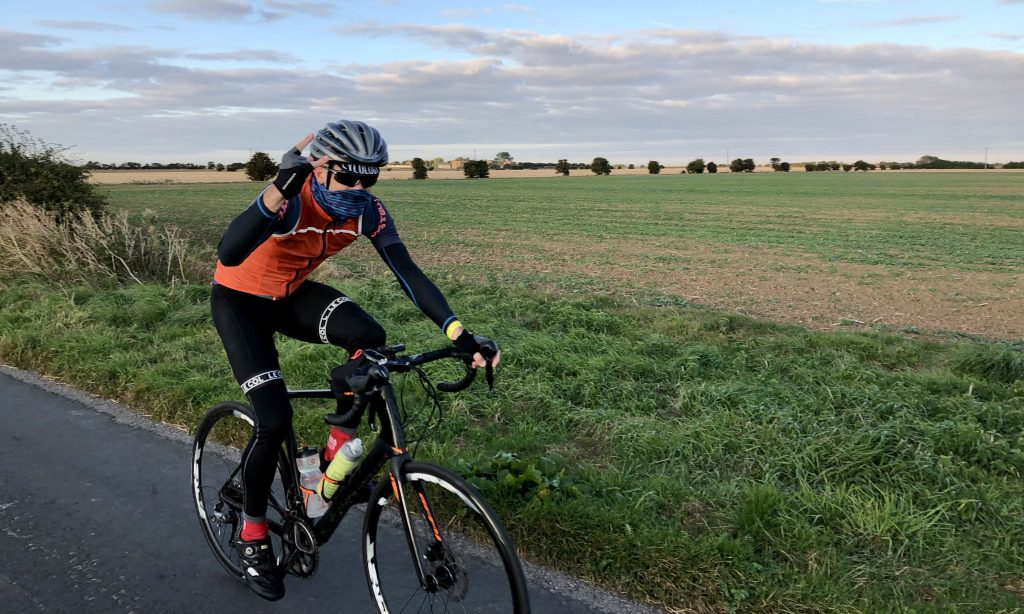 Photo: Nick Moran on the return leg from Spurn to Thetford. Credit: Jonny Rankin.